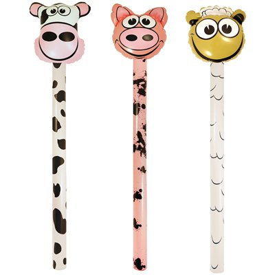 Inflatable Farm Animal Stick - 118cm