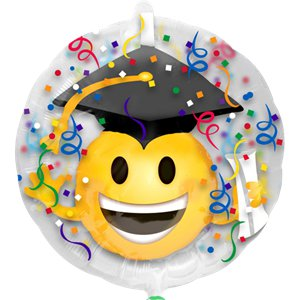 Graduation Emoji Insider Balloon - 24