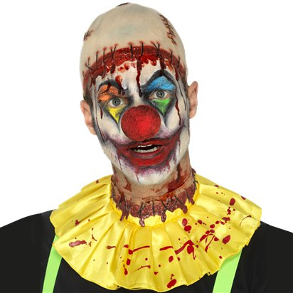 Latex Creepy Clown Instant Kit - Halloween Special Effects Makeup front