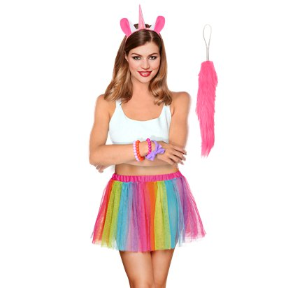 Unicorn Accessory Kit - Women's Fancy Dress Costume Accessories - Adults One Size front