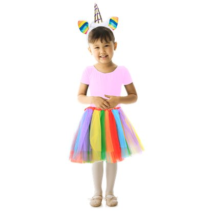 Rainbow Unicorn Kit - Girl's Fancy Dress Costume Accessories - Kids One Size front