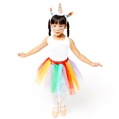 Rainbow Unicorn Accessory Kit - Girl's Fancy Dress Costume Accessories - Kids One Size front