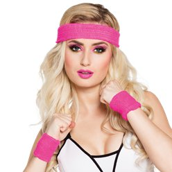 Pink Sweatband Accessory Kit