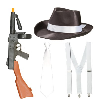Gangster Accessory Kit - 1920's Fancy Dress Costume Accessories pla
