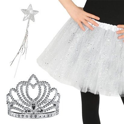Glitter Princess Accessory Kit - Princess Fancy Dress Accessories front