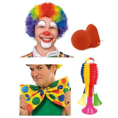 Rainbow Clown Wig New Multi WIG WEDNESDAY Fancy Dress Costume Accessory
