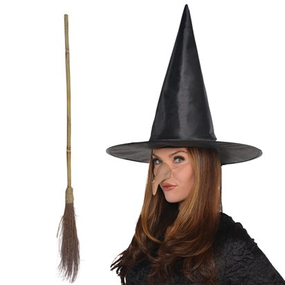 Wicked Witch Accessory Kit - Witch Fancy Dress Costume Accessories front
