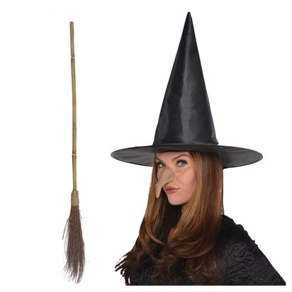Wicked Witch Accessory Kit - Witch Fancy Dress Costume Accessories pla