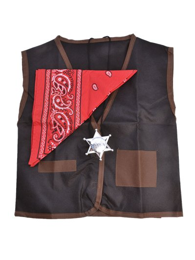 Fancy Dress Accessories Cowboy Waistcoat & Bandana