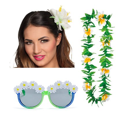 Summer Festival Flower Accessories Kit - Ladies Fancy Dress Accessories front