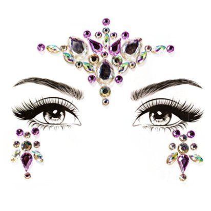 Unicorn Dreams Accessories Kit - Ladies Face Gem Fancy Dress Accessories back