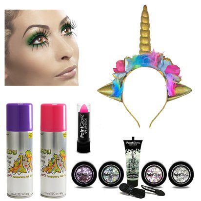 Get the Look - Unicorn Glitter Accessory Kit - Ladies Festival Fancy Dress Accessories front
