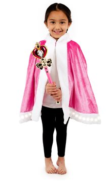 Pink Light up Cape & Wand