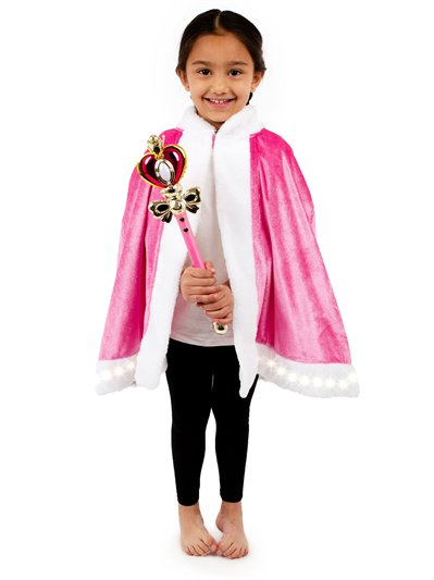 Light up Cape and Wand Pink Kit