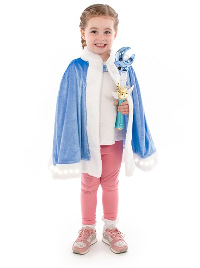 Light up Cape and Wand Blue Kit