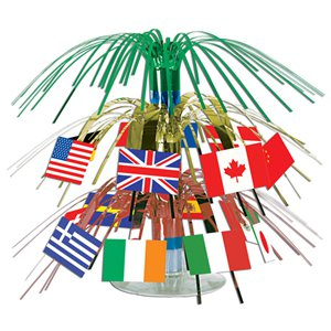 International Flag Mini Cascade Table Centrepiece - 19cm