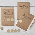 Kraft Wedding Reception Scratch & Reveal Invites