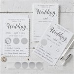 White Wedding Scratch & Reveal Invites