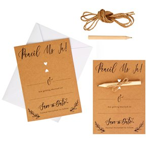 Hearts & Krafts Wedding Save The Date Cards