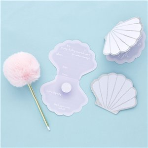 Shell Party Invitation Cards