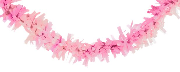 Iridescent and Pink Tissue Garland - 7.6m
