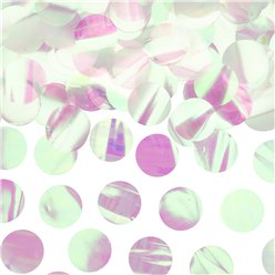 Iridescent Confetti Circles - 15g Bag