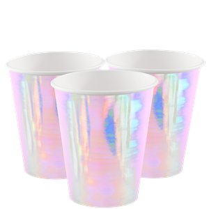 Iridescent Paper Cups - 220ml