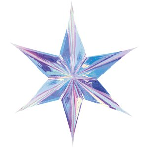 Iridescent Star Decoration - 40cm
