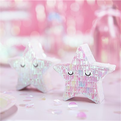 Iridescent Mini Star Pinata Decoration- 10.5cm