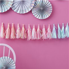 Iridescent Party Tassel Garland - 2m