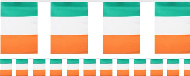 Irish Flag Fabric Bunting - 6m