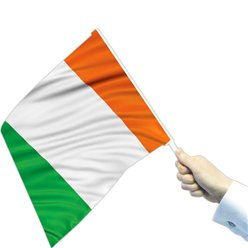 Large Irish Waving Flags - 30cm