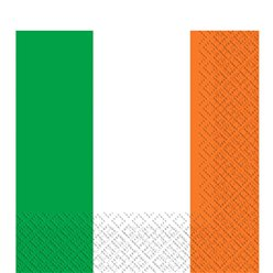 Irish Flag Napkins - 2ply Paper Party Napkins