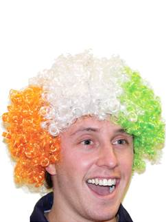 Irish Flag Afro Wig