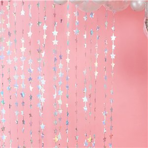 Iridescent Star Curtain Backdrop