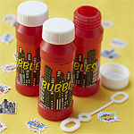 Pop Art Superhero Party Bubbles - 114ml