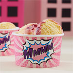 Pink Pop Art Superhero Treat Tubs - 142ml