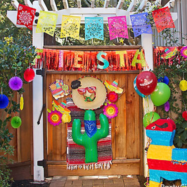 Mexican party supplies party delights for Decoration theme jardin
