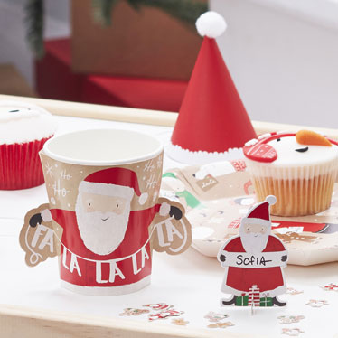 Santa and Friends & Christmas Tableware Cups Plates Napkins | Party Delights