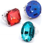 Jumbo Gem Rings - Assorted Colours