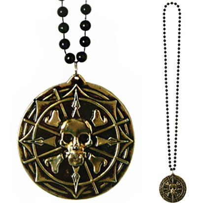 Pirate Medallion Necklace - Pirate Fancy Dress Costume Accessories front