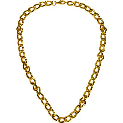 Chunky Gold Chain - Pimp & Gangster Fancy Dress Accessories front
