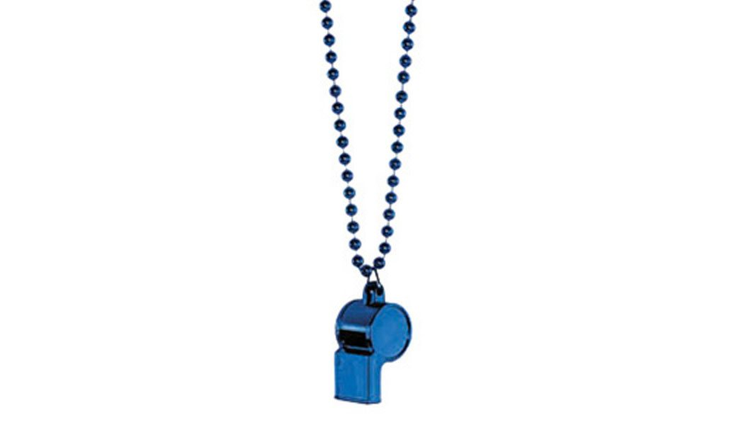 Blue Whistle on Chain