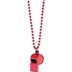 Red Whistle on Chain