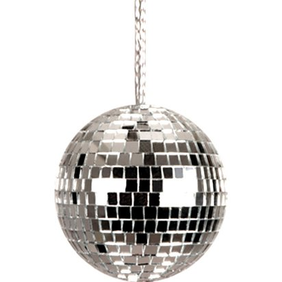 Disco Ball Necklace - 70's Fancy Dress Accessories front