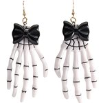 Skeleton Hand Earrings - 8.5cm
