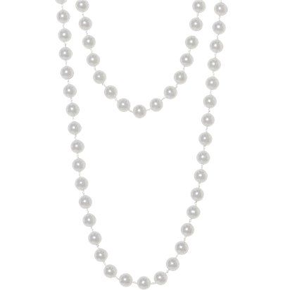 Pearl Beaded Necklace - Fancy Dress Accessories front