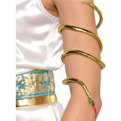 Egyptian Snake Armband - Cleopatra Fancy Dress Accessories front