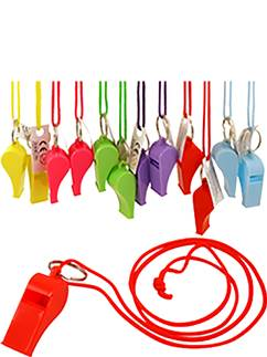 Multicolour Whistles