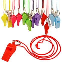 Multi-colour Whistles - 12 Pack